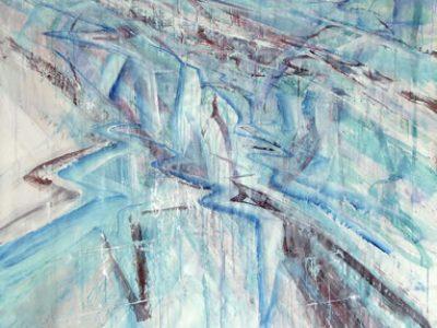 """""""interior # 3"""", 2006 Acryl auf Papier, 150 x 150 cm SilvrettAtelier 2006"""