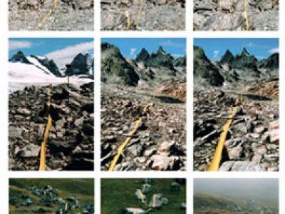 """""""Ohne Titel""""  Serie von C-Prints zur Dokumentation mehrerer Land-Art-Installationen auf der Roten Furka, 2006 SilvrettAtelier 2006"""