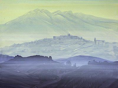 """""""Paliano"""". 2007, Acryl / LW, 60 x 80 cm"""
