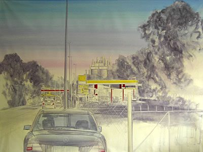 """Ohne Titel (Colleferro II)"", 2007, Acryl auf Leinwand, 150 x 200 cm"