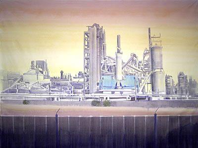 """Ohne Titel (Colleferro I)"", 2007, Acryl auf Leinwand, 150 x 200 cm"