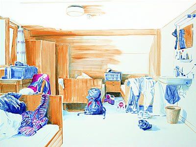 """Interior#21"", 2009, Acryl auf Leinwand, 120 x 160 cm SilvrettAtelier 2008"