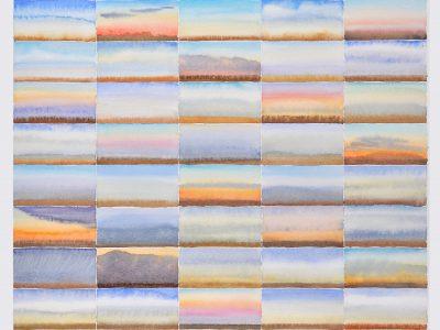 """Paliano Tagebuch (Herbst)"", 2009, Aquarell 70 x 50 cm Sequenzen"