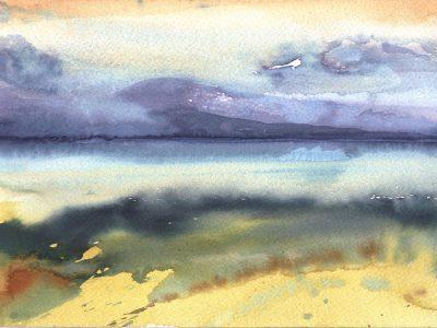 """Atlin Lake"", 2001, Aquarell, 24 x 32 cm  Gastatelier Atlin, Kanada"