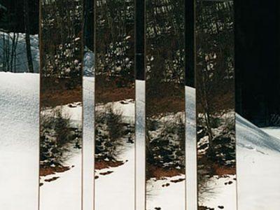 """""""Ausapern"""", Translokationen Spiegelungen, 2000, analoge Fotografie"""