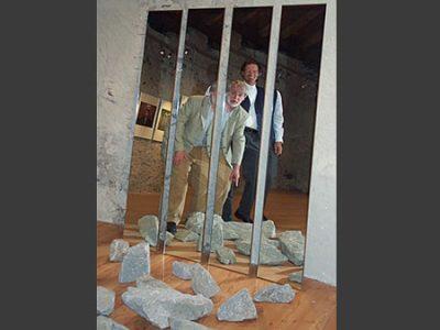 """""""Translokationen"""". Ausstellungsansicht Kammgarn Hard, 2004"""