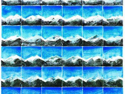 """""""Frühlingssequenzen II"""", 2001, Acryl / LW, 80 x 60 cm"""