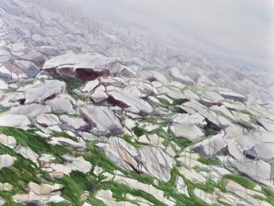 """Ganda"", 2016, Acryl auf Leinwand, 120 x 150 cm SilvrettAtelier Montafon 2016"