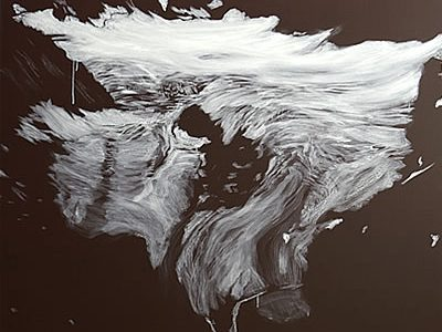 """Ochsentaler Gletscher"", 2008, Acryl auf Leinwand, 120 x 150 cm SilvrettAtelier 2008"
