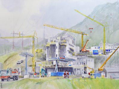 """ohne Titel (Rautz II)"" 2017, Acryl auf Leinwand 150 x 240 cm, A.I.R. arlberg1800"