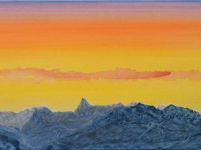 """""""Rätikonblick I"""" Acryl auf Leinwand 50 x 100 cm, A.I.R. arlberg1800"""