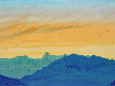 """""""Rätikonblick II"""" Acryl auf Leinwand 60 x 120 cm, A.I.R. arlberg1800"""