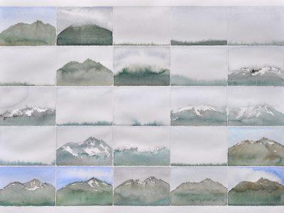 """Tagebuch"" Aquarell, 50 x 70  cm, A.I.R. arlberg1800"