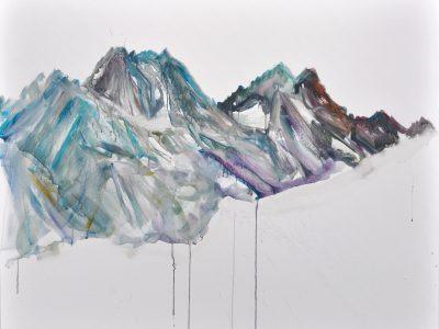 """""""Wildgrubenspitz I"""" 2017, Acryl auf Leinwand 120 x 150 cm A.I.R. arlberg1800"""