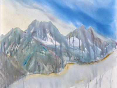 """""""Wildgrubenspitz II"""" 2017, Acryl auf Leinwand 100 x 100 cm A.I.R. arlberg1800"""