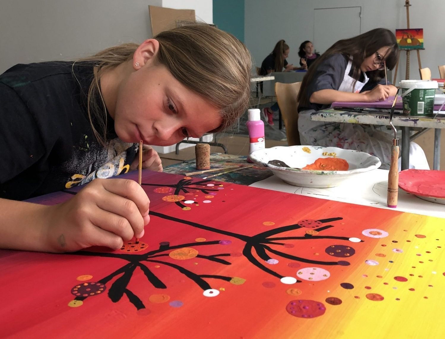 Kinder- und Jugend-Acrylworkshop, Kunstforum Montafon