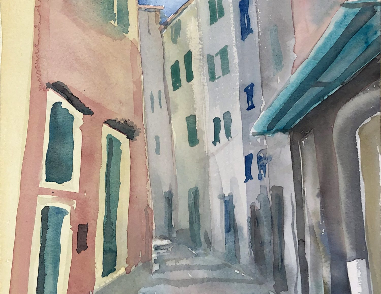 """San Remo I"", 2019, Aquarell, 30 x 40 cm, Ligurien, Itaien"