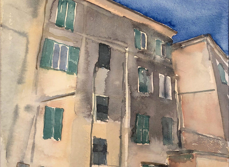 """""""Ventimiglia II"""", 2019, Aquarell, 30 x 40 cm, Ligurien, Itaien"""